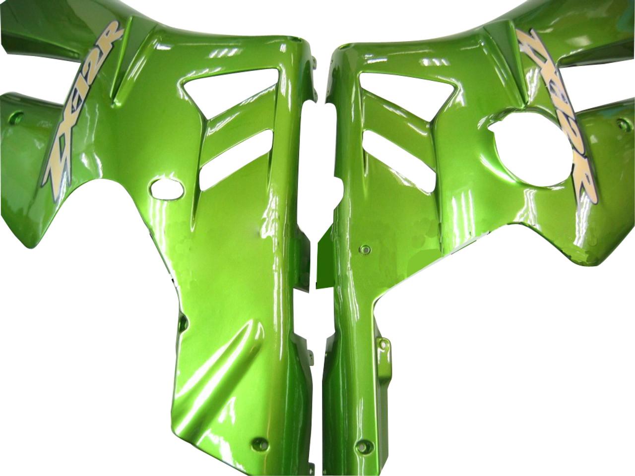 Fairings Kawasaki ZX12R Green Metallic ZX12R Racing (2002-2004)