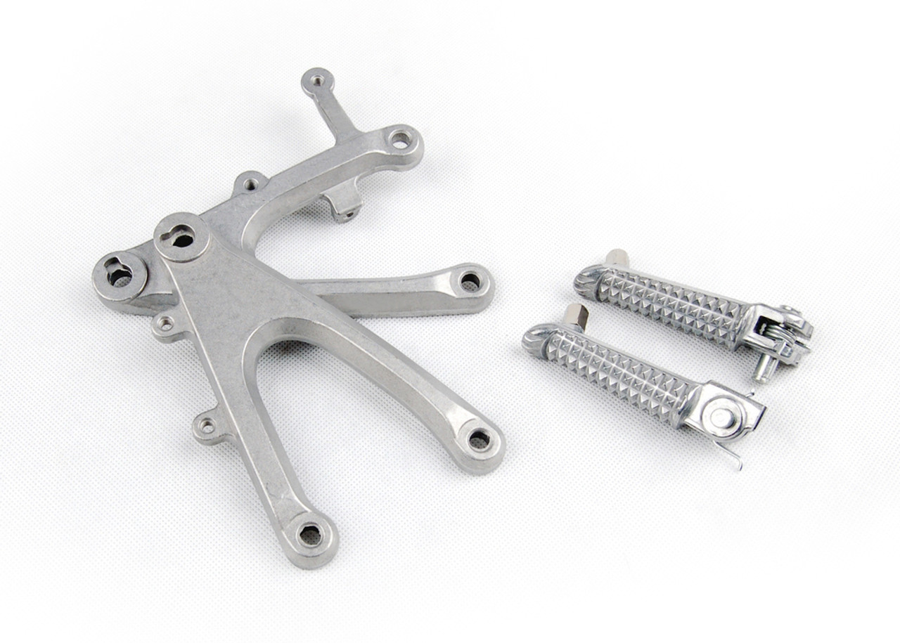 Front Footpegs Footrests Brackets Set Yamaha YZF R1 (2004-2006) 5VY-27442-01-00, 5VY-27443-01-00, 5VY-27410-00-00, 5VY-27420-00-00
