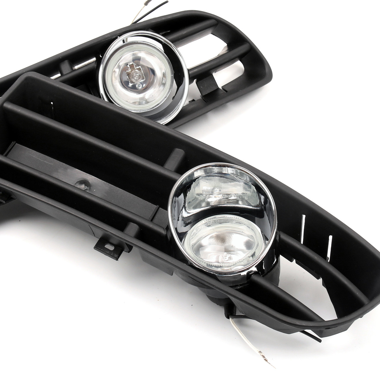 Bumper Grille Grill with Driving Fog Lamp Light VW JETTA BORA MK4 TDI (99-04)