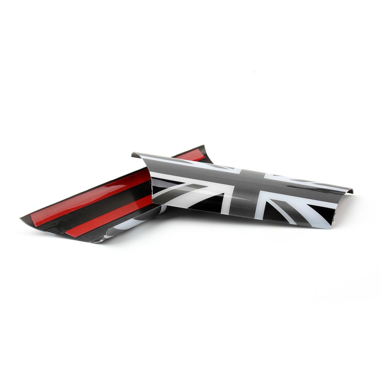 Door Pull Handle Covers Trim MINI Cooper R55 R56 R57 R58 Union Jack UK Gray