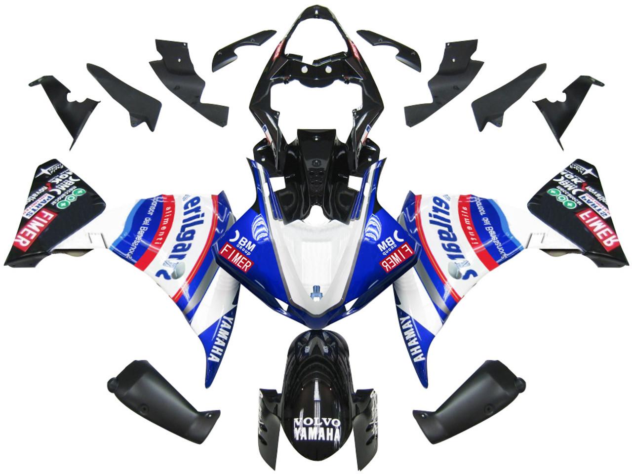 Fairings Yamaha YZF-R1 Blue White Sterilgard Racing (2009-2012)
