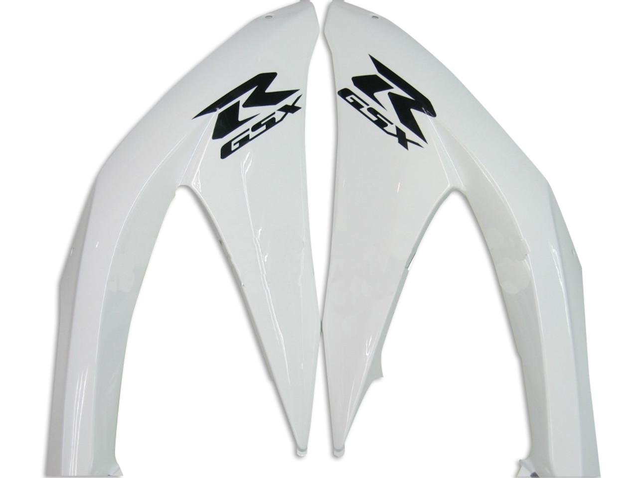 Fairings Suzuki GSXR 600 750 White Black GSXR Racing  (2008-2009-2010)