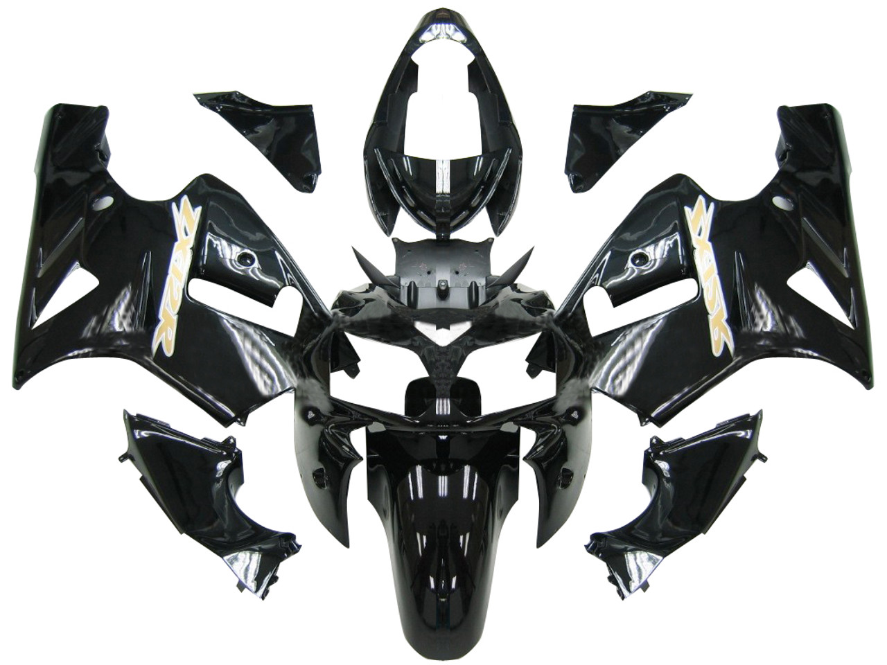 Fairings Kawasaki ZX12R Black ZX12R Racing (2002-2004)