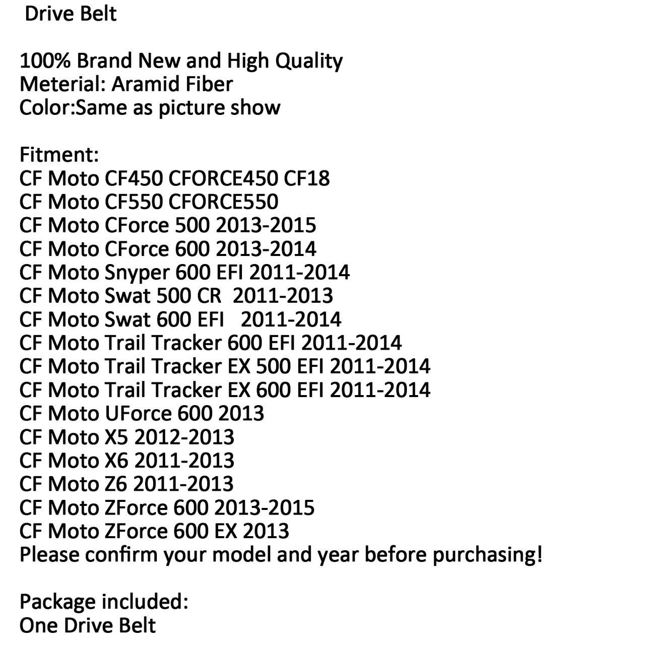 Drive Belt CF Moto CF450 CFORCE450 CF18 X5 X6 (M510-A013-Black)