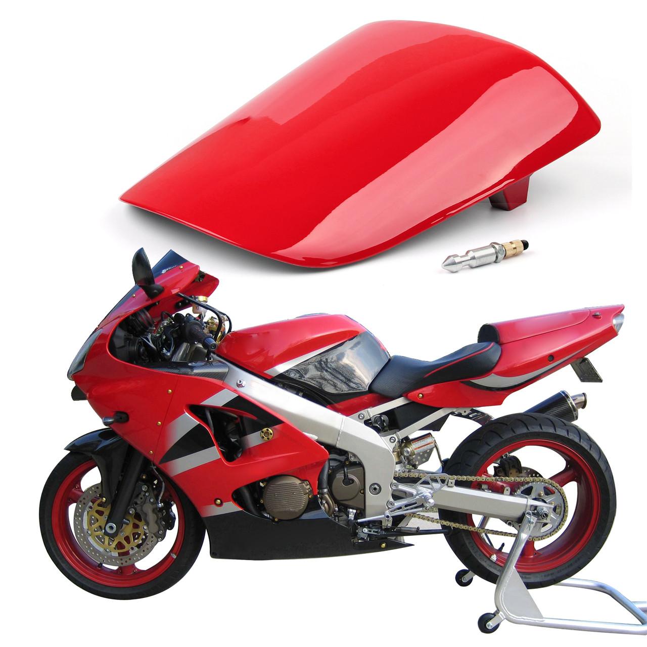 Motorcycle Black Rear Passenger Cushion Rear Pillion Seat Cowls For Kawasaki ZX6R 1998-2002 ZZR600 2005-2008