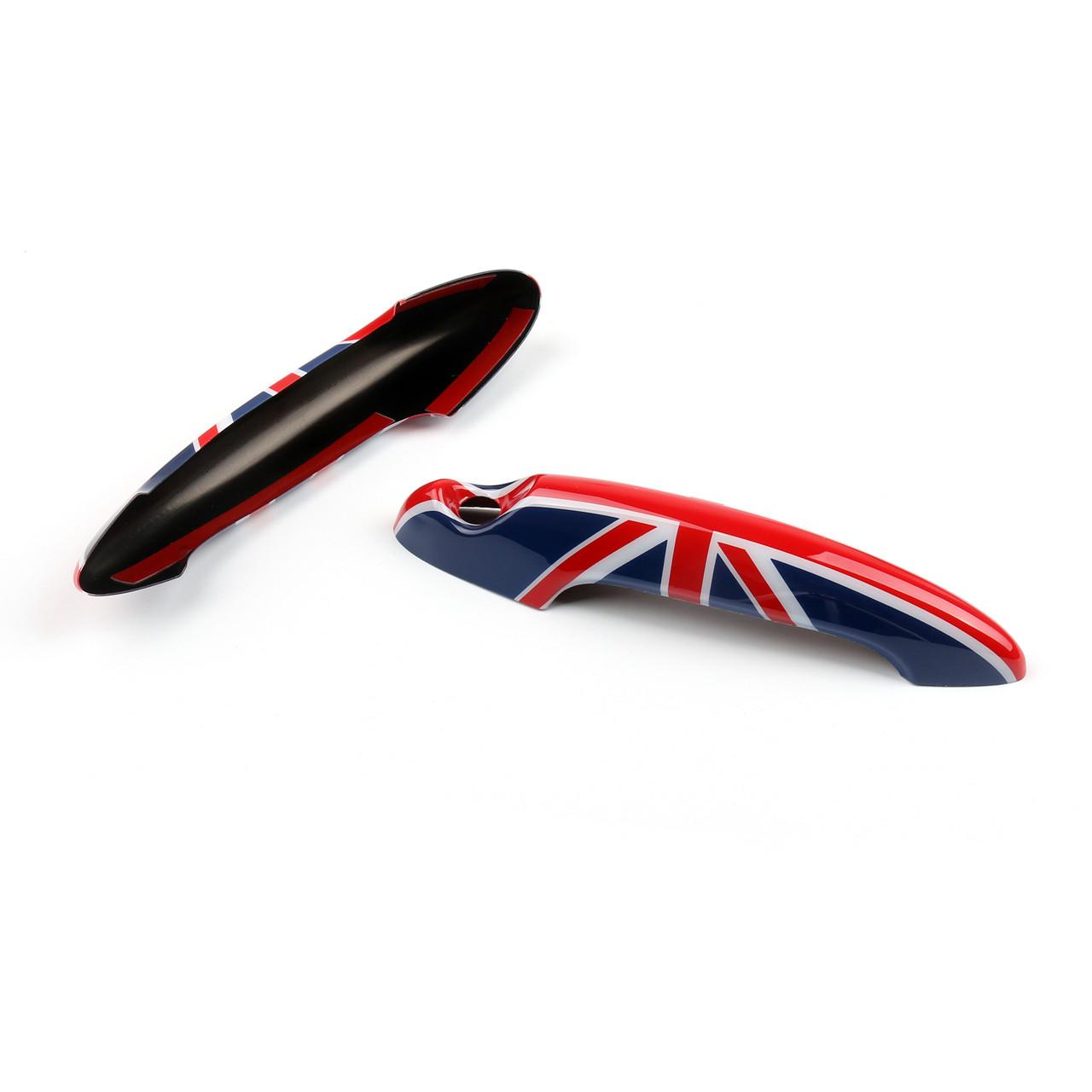 Union Jack UK Flag Design Door Handle Cover Mini Cooper R50 R52 R53 R55 R56