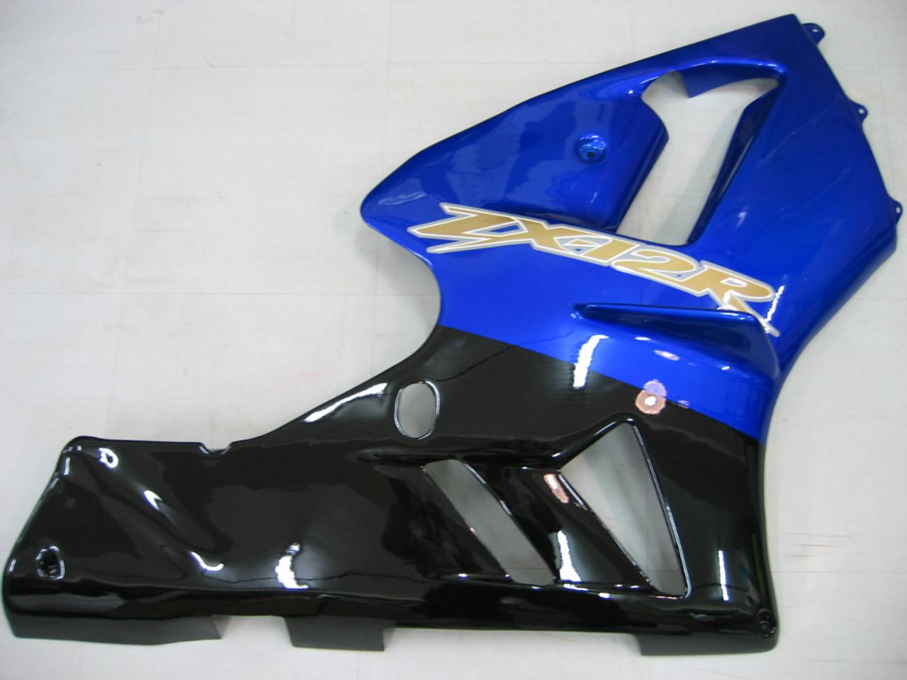 Fairings Kawasaki ZX12R Ninja Blue Black ZX12R Racing (2002-2004)