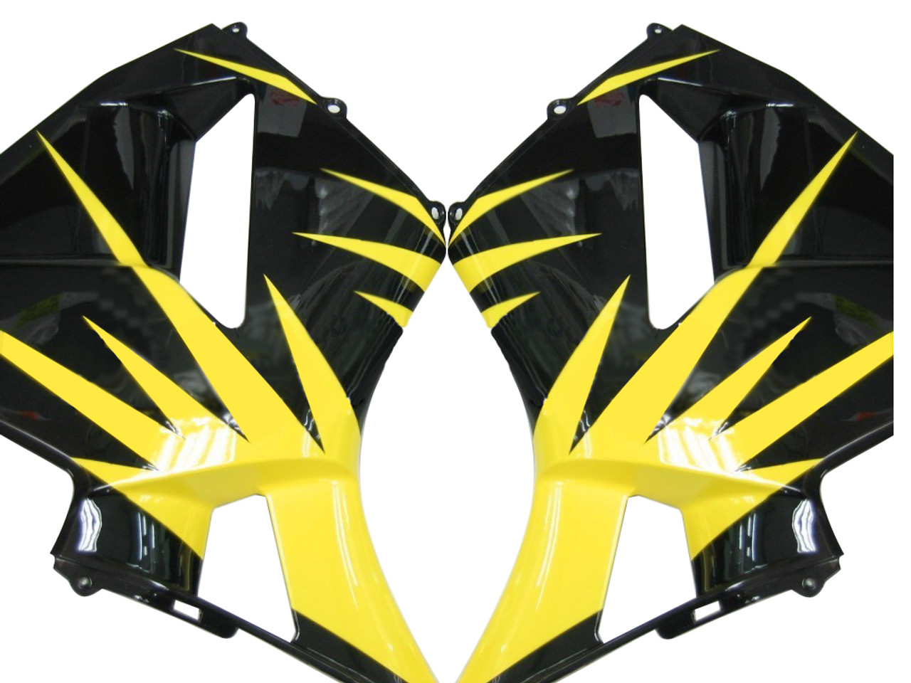 Fairings Honda CBR 600 RR Black & Yellow Tribal Racing (2005-2006)