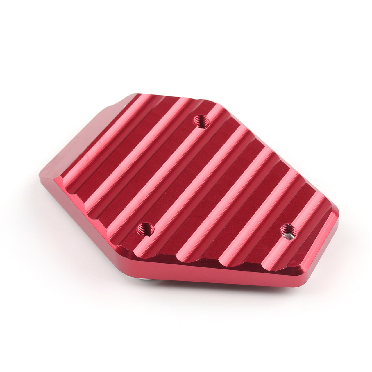 Kickstand Foot Side Stand Enlarger Plate Pad Ducati Monster 795 796 821 1200, Red