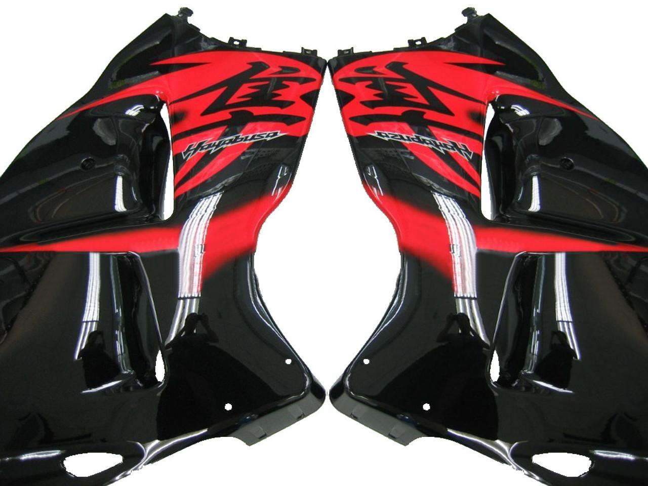 Fairings Suzuki GSX1300 Hayabusa Black and Red Hayabusa Racing  (1999-2007)