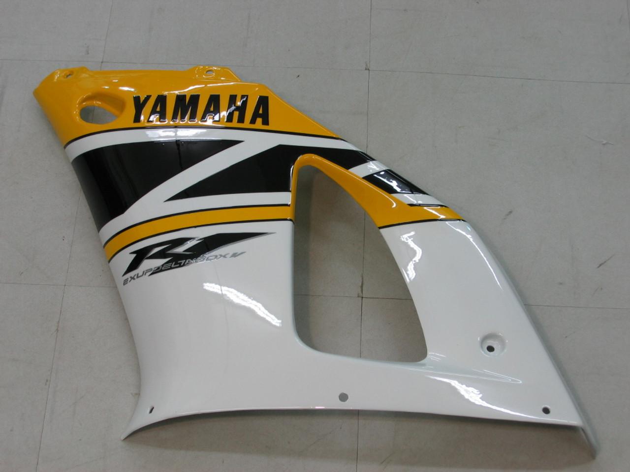 Fairings Yamaha YZF-R1 Yellow White Black R1 Racing (1998-1999)