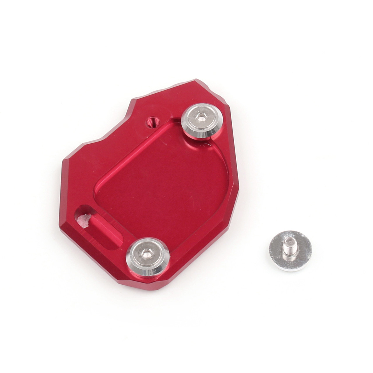 Kickstand Shoe Extension Plate Pad Side Stand BMW F800GS F800 GS (2008-2013) Red
