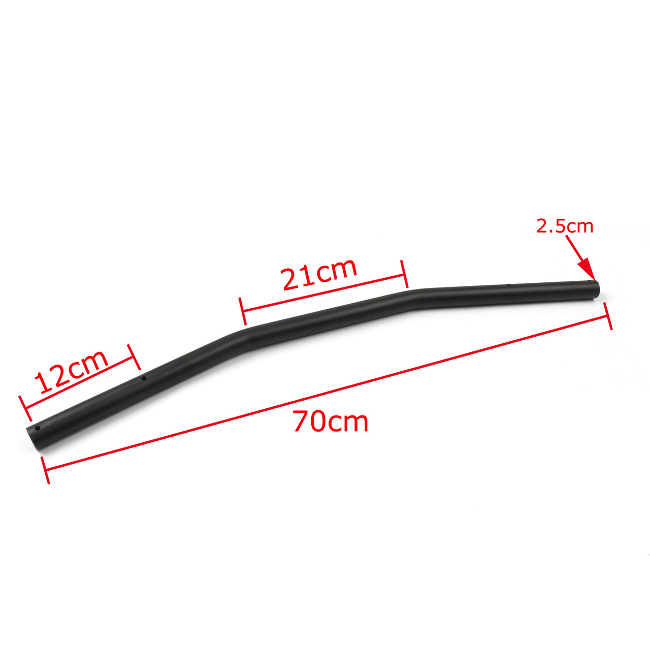 "1"" 25mm Handlebar Drag Bar Motorcycle Universal Harley Yamaha Suzuki Kawasaki VTX Shadow Black"