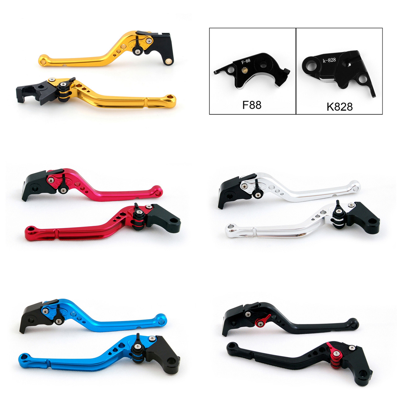 Standard Staff Length Adjustable Brake Clutch Levers Kawasaki Z1000SX NINJA 1000 Z1000SX-Tourer 2011-2016 (F-88/K-828)