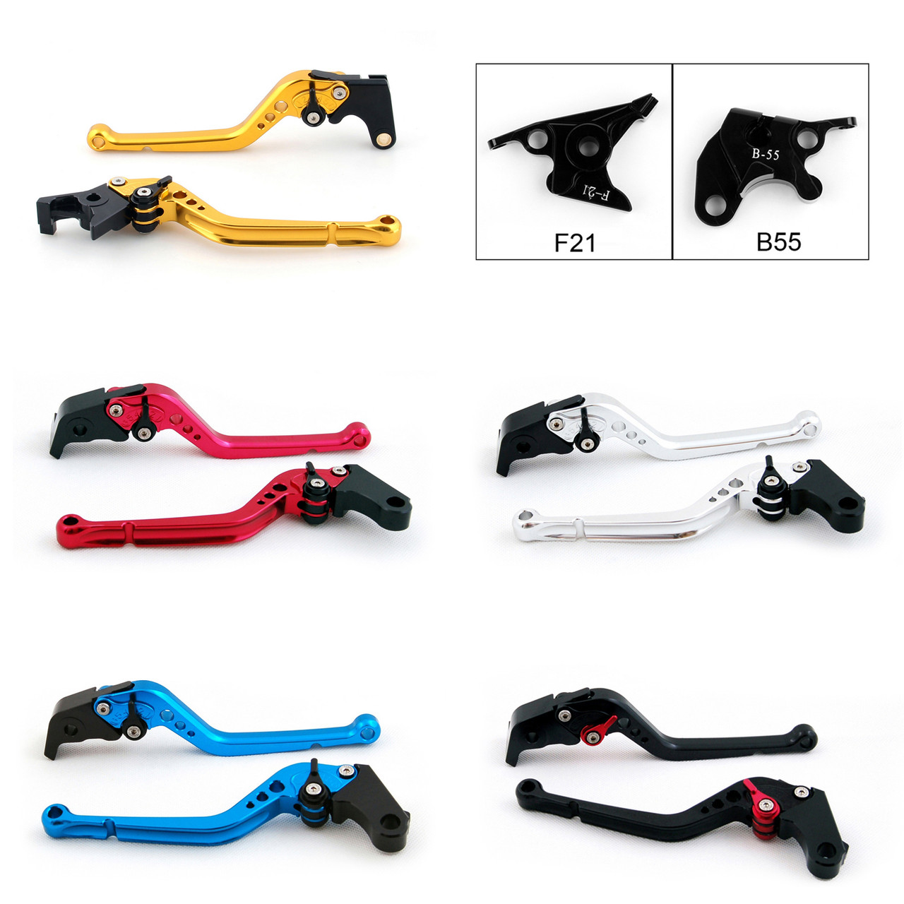 Standard Staff Length Adjustable Brake Clutch Levers Buell XB12 all models up to 08 only 2004-2008 (F-21/B-55)