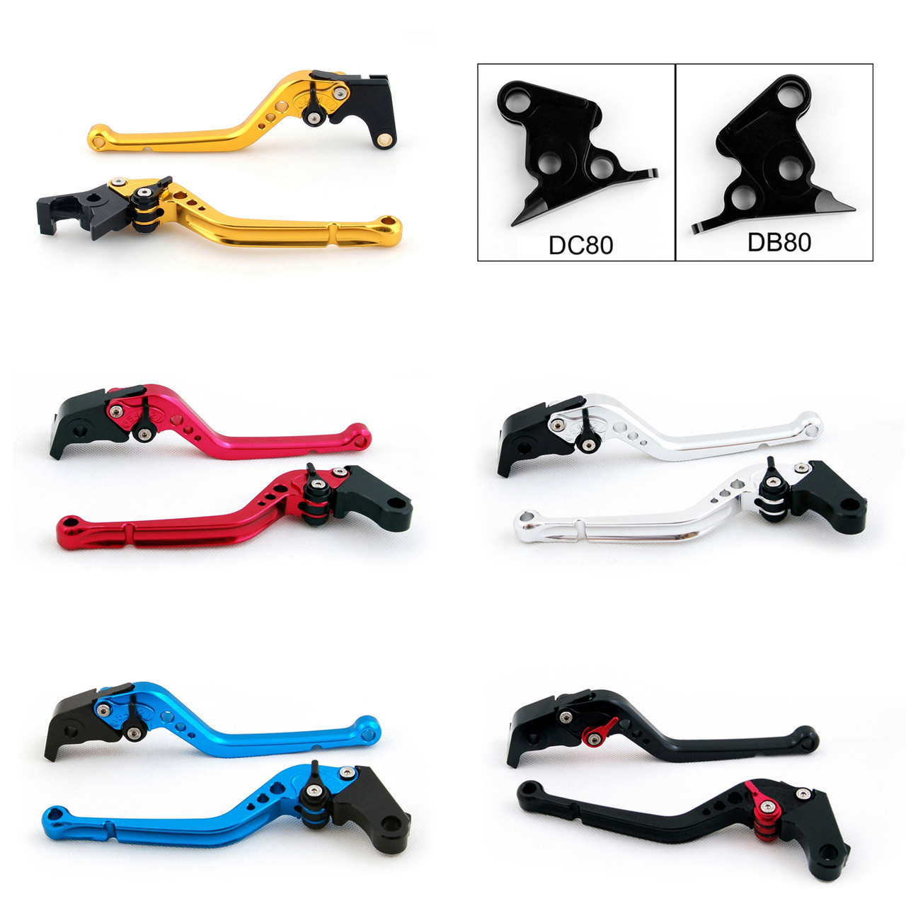 Standard Staff Length Adjustable Brake Clutch Levers Ducati MS4 MS4R 2001-2006 (DB-80/DC-80)