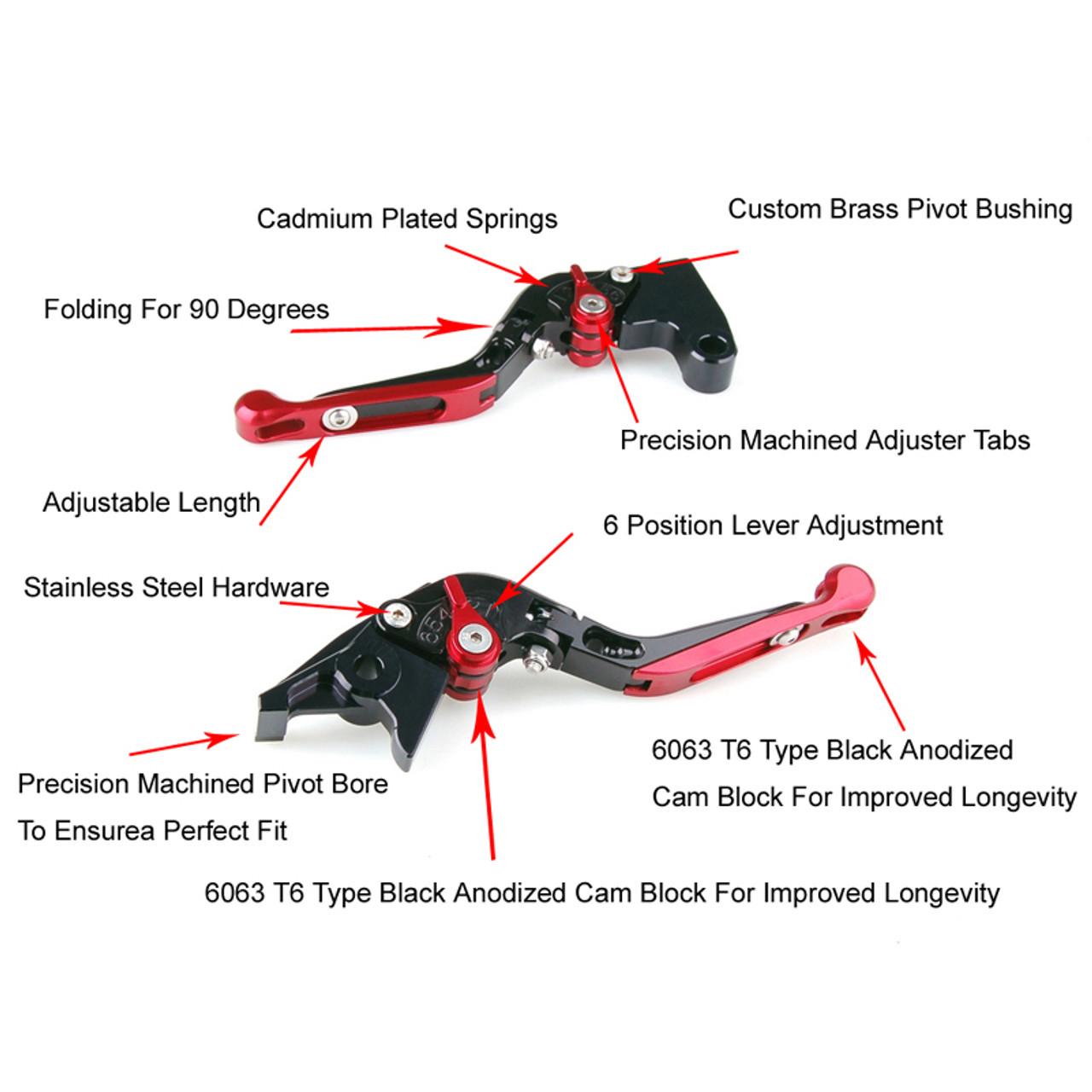 Staff Length Adjustable Brake Clutch Levers Honda CBR600RR 2003-2006