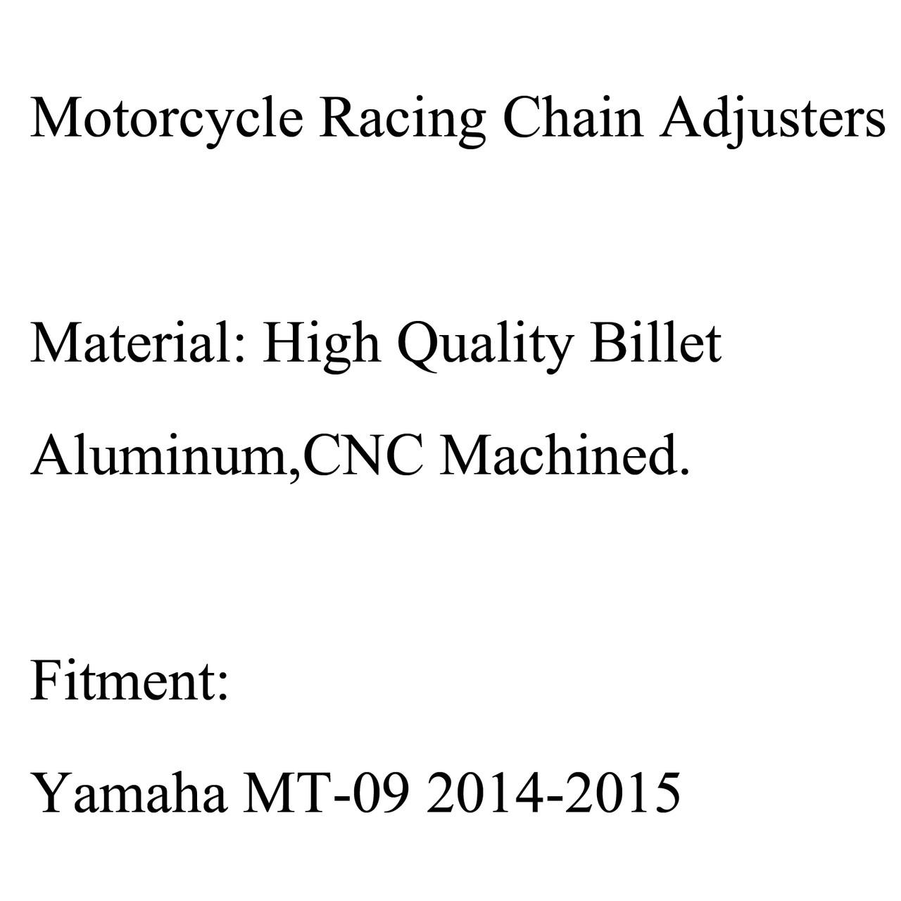 Aluminum Chain Adjusters Tensioners Catena YAMAHA MT-09 MT09 (2014-2015) Titanium