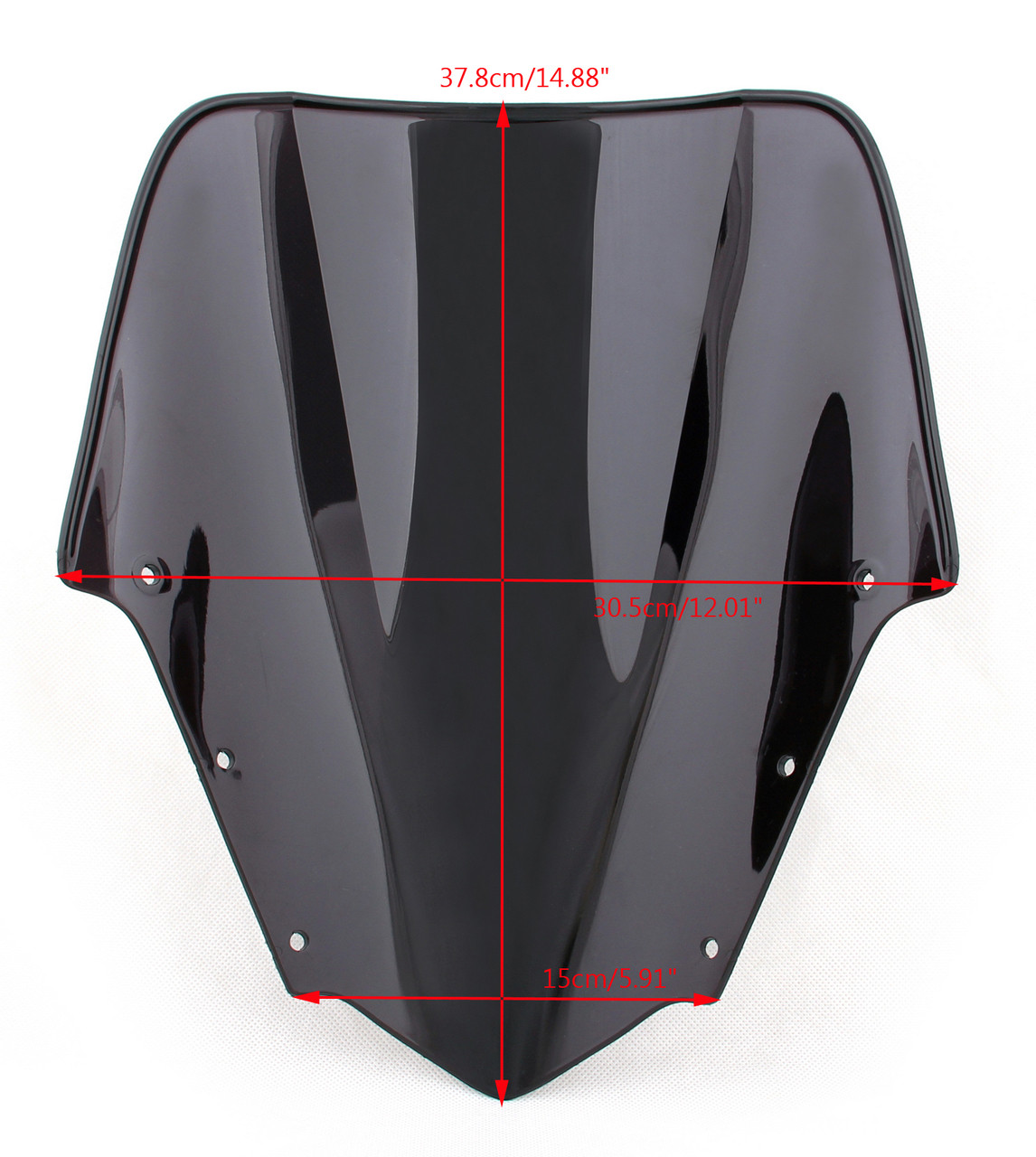 ABS Windshield WindScreen Double Bubble Fit For Yamaha FZ1 (2006-2015) Black