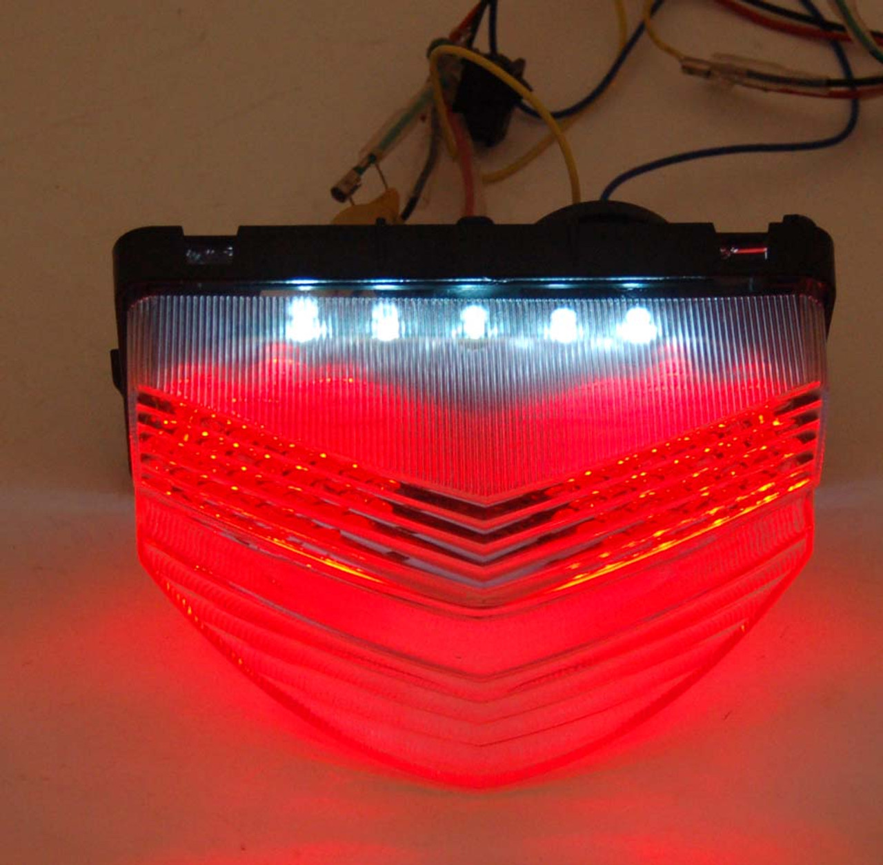 Integrated LED TailLight Turn Signals For Honda CBR 600 F4i 2001-2003 Clear