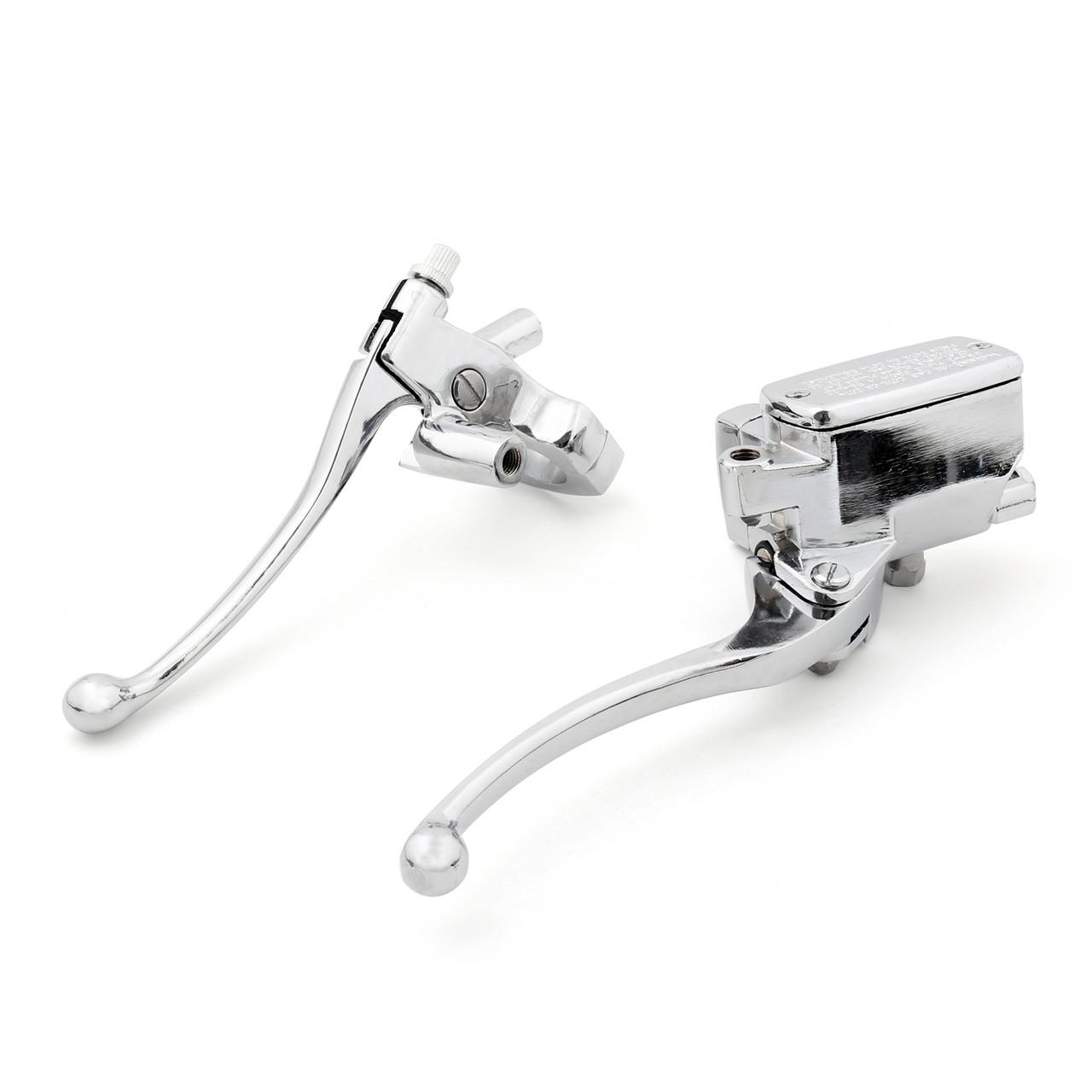 Levers Set Hydraulic Brake Cable Clutch Honda VT1300 VT1300CR Stateline (2010-2014) Chrome