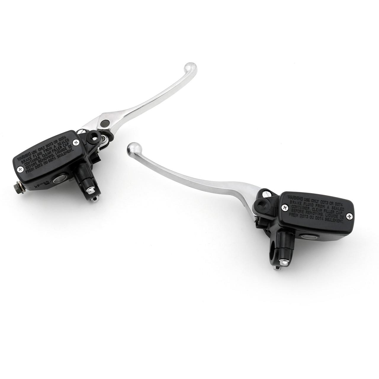 Levers Set Hydraulic Brake Hydraulic Clutch Master Cylinders Honda CBR1100XX Blackbird (1997-2006) Chrome