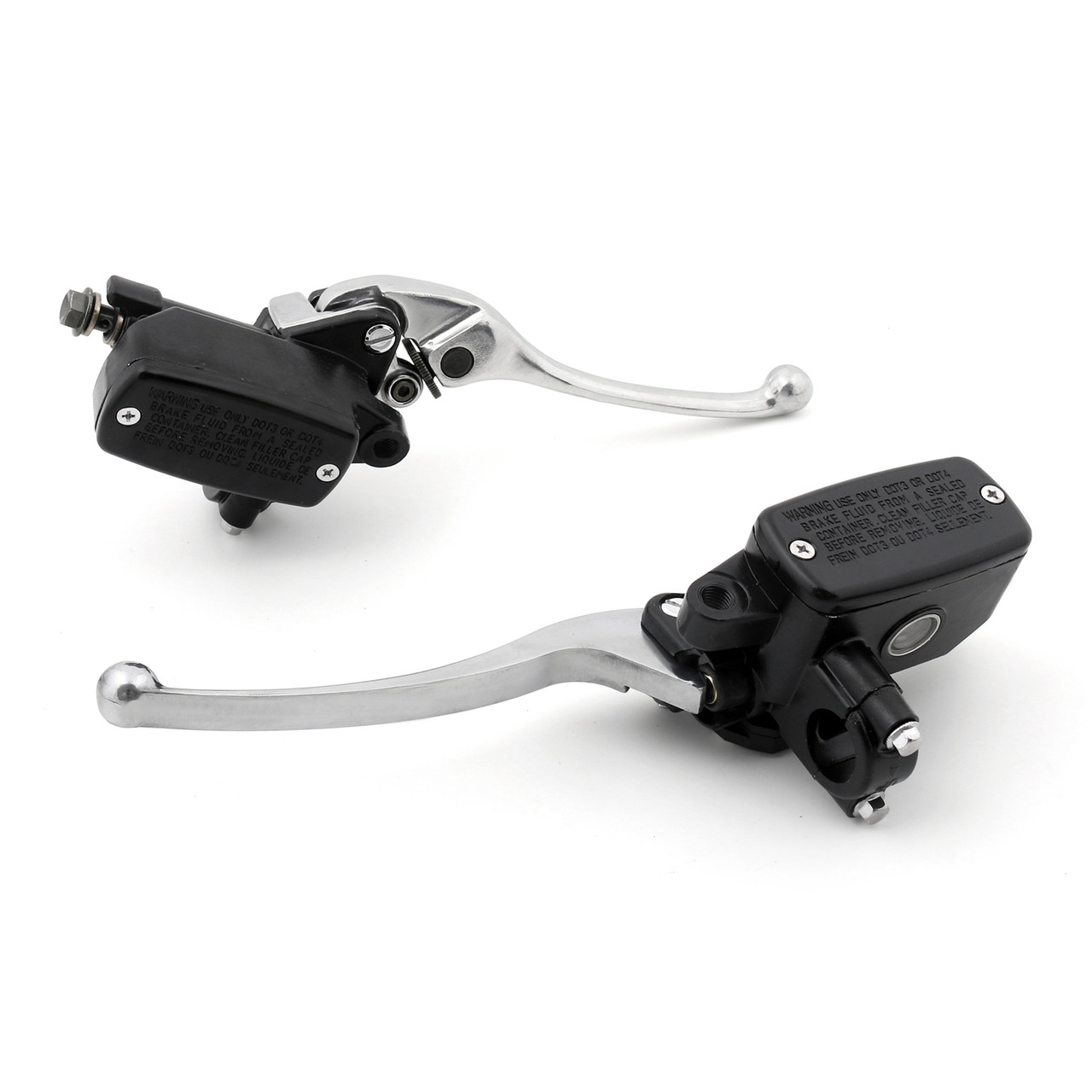 Levers Set Hydraulic Brake Hydraulic Clutch Master Cylinders Honda PC800 (1989-1998) Chrome