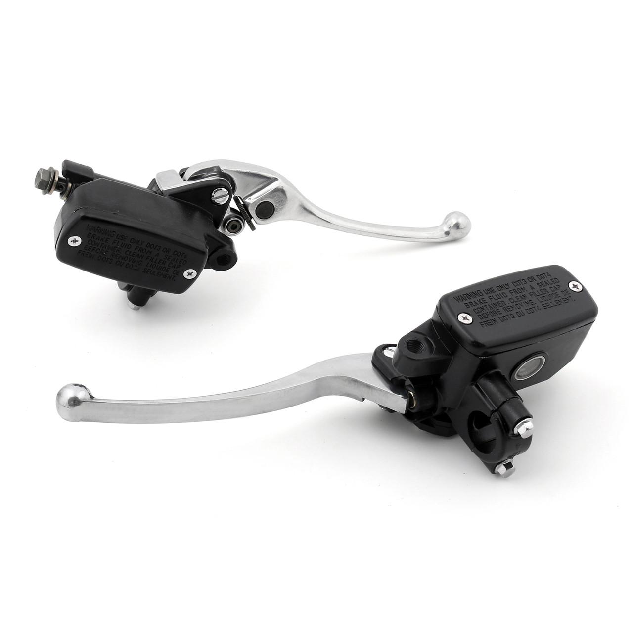 Levers Set Hydraulic Brake Hydraulic Clutch Master Cylinders Honda VFR750F VFR750 INTERCEPTOR (1991-1997) Chrome
