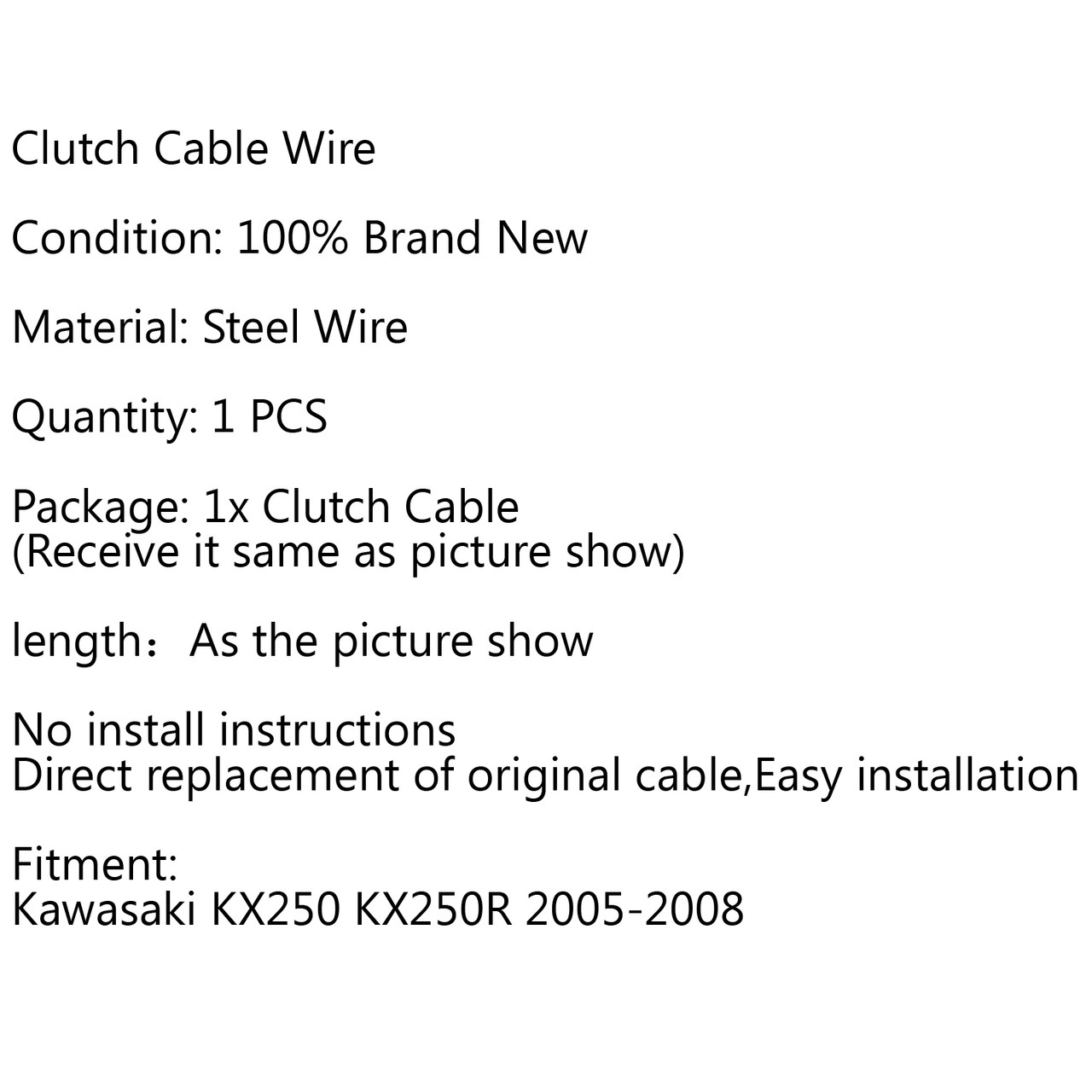Clutch Cable Replacement Kawasaki KX250 KX250R (2005-2008)