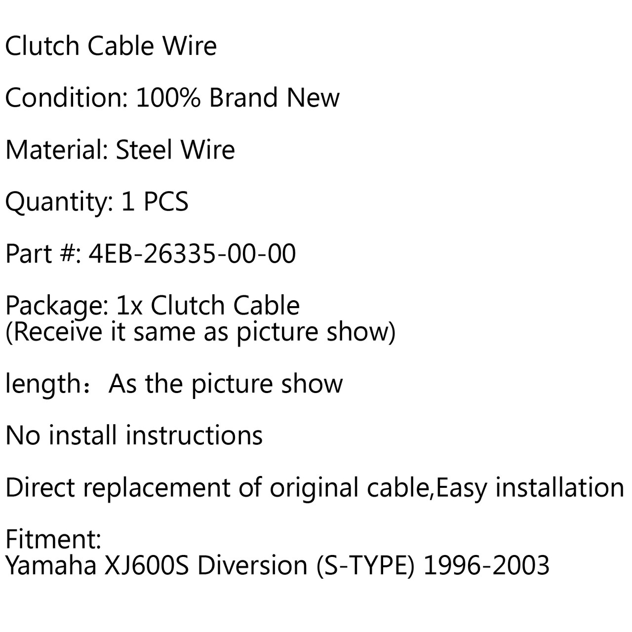 Clutch Cable Replacement Yamaha XJ600S Diversion (S-TYPE) (1996-2003)