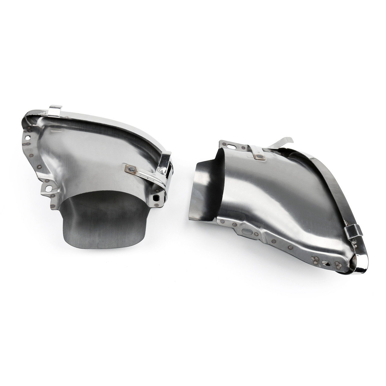 Dual Exhaust Pipes Tail Muffler Tips Benz W212 (2014-2016), Silver