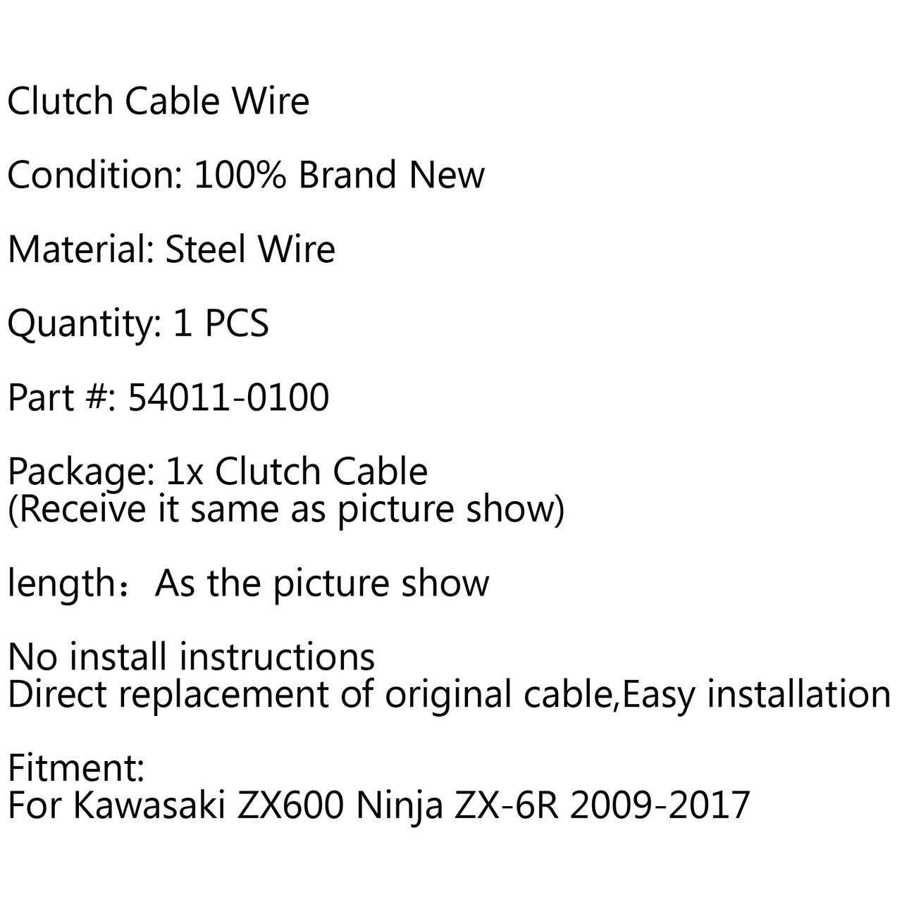 Clutch Cable Replacement Kawasaki ZX600 Ninja ZX-6R (2009-2017)