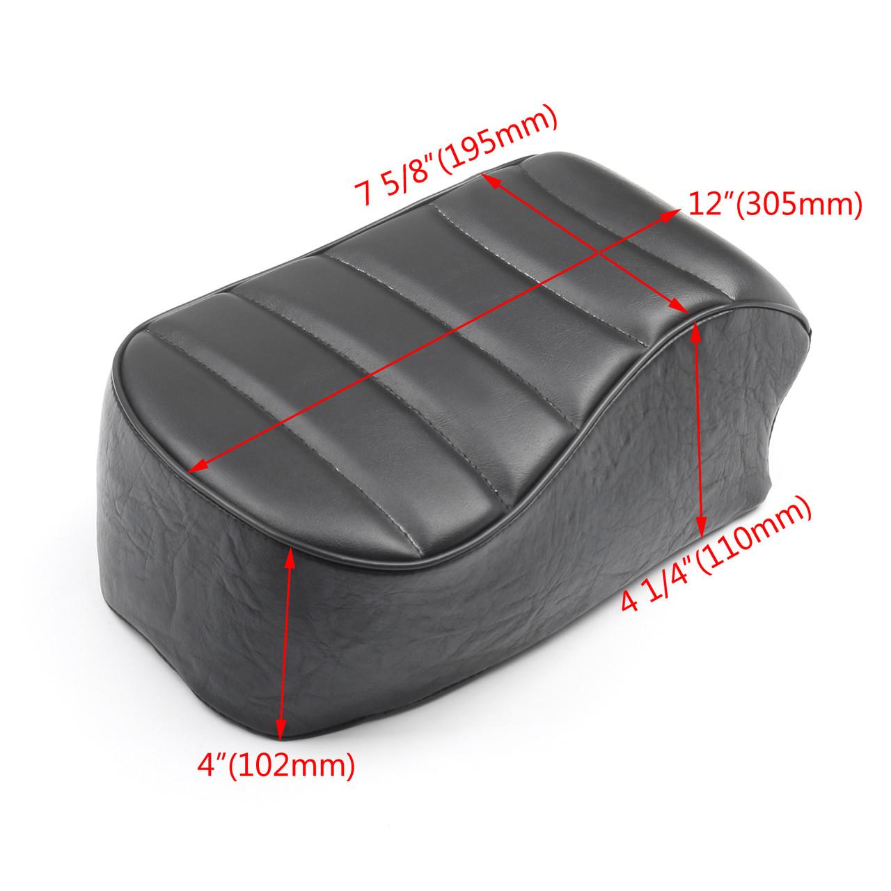 Stripe Leather Rear Passenger Pad Seat Harley Sportster Iron XL883N