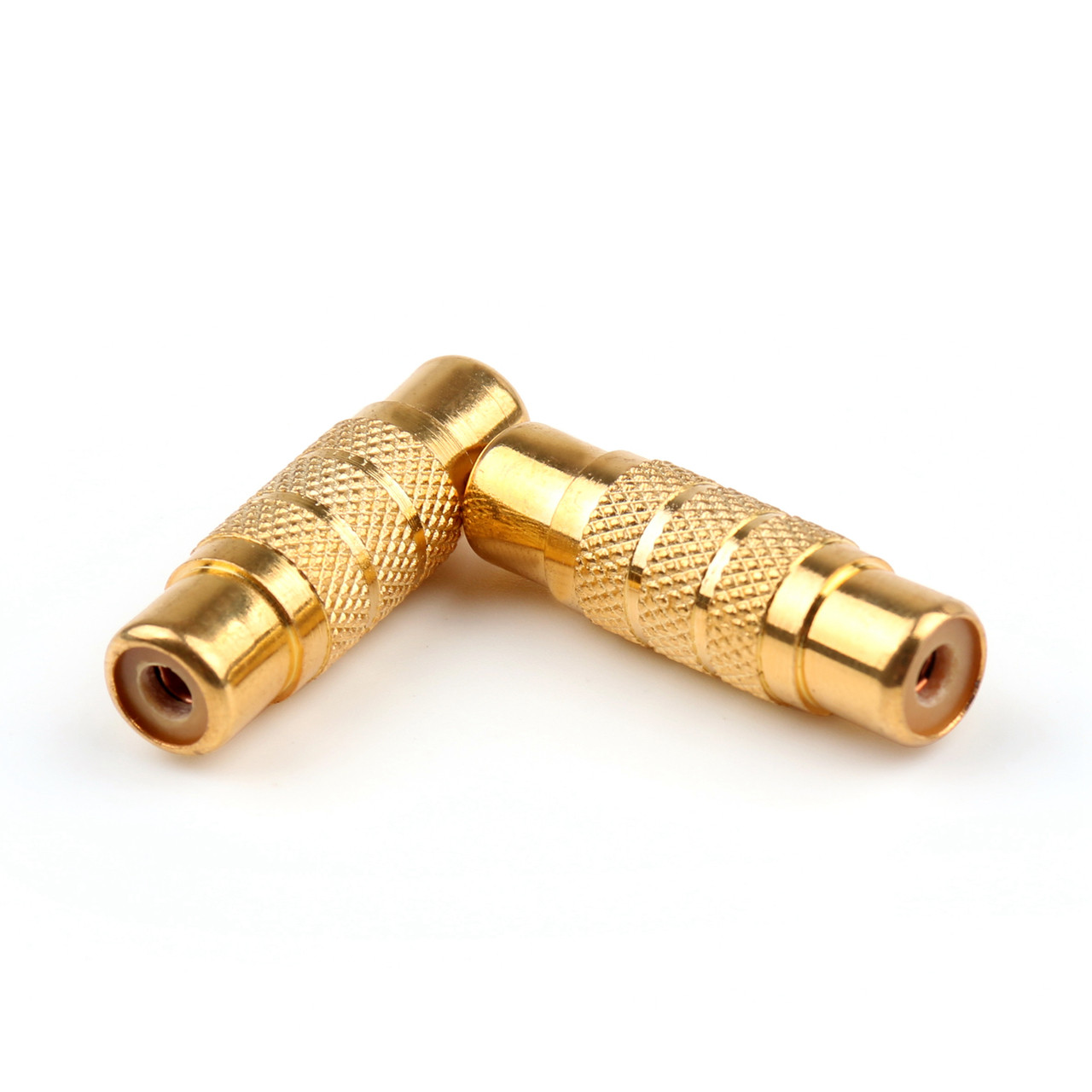 Mad Hornets 5PCS Gold-Plated RCA AV Audio Video Female To Female Coupler Connector