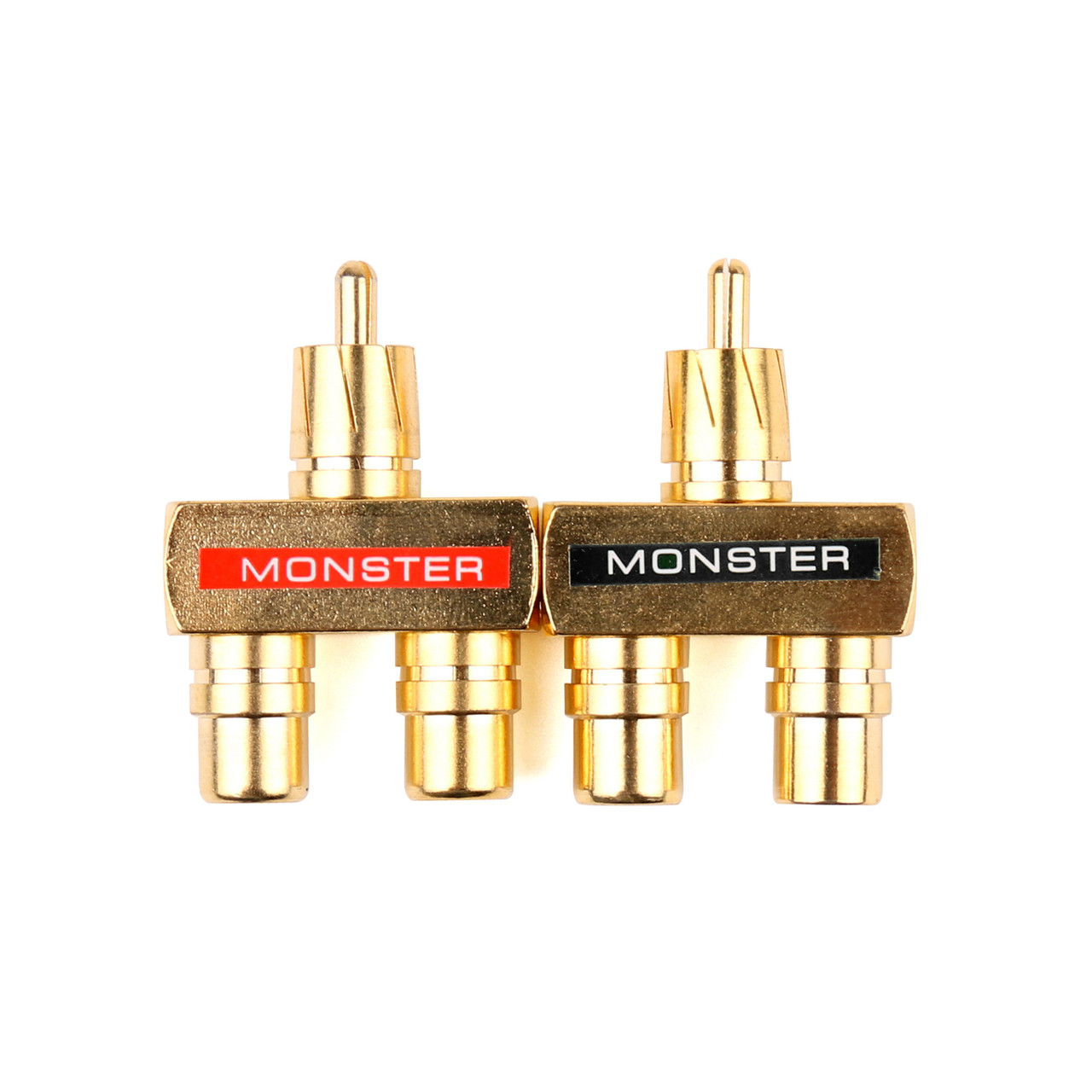 Mad Hornets 10PCS RCA Audio Y Splitter Plug Adapter 1 Male to 2 Female Gold Plated Connector