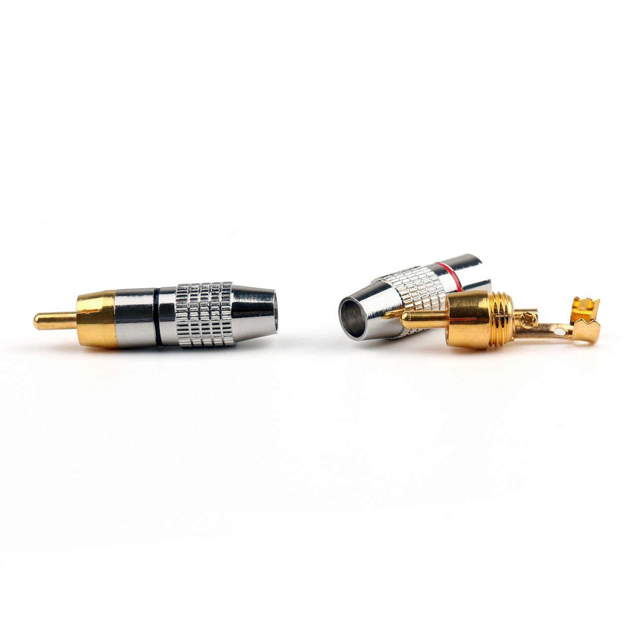 Mad Hornets 10PCS RCA Plug Audio Video Locking Cable Connector