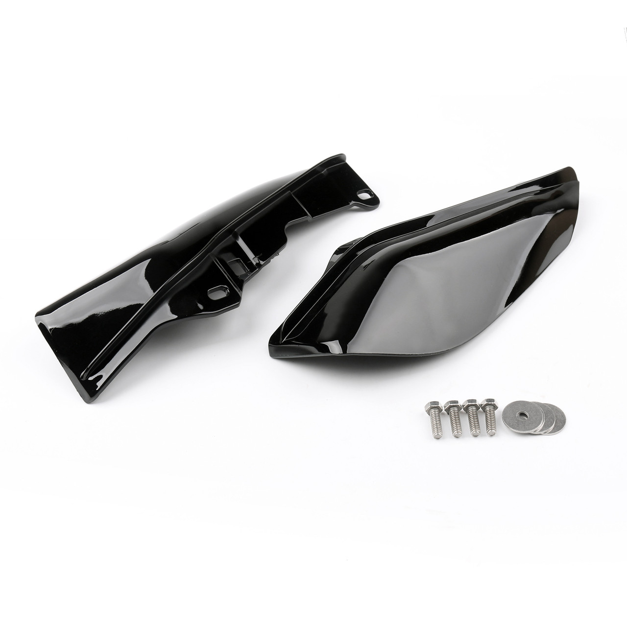 Mid-Frame Air Heat Deflector Trim Accents Shield For Harley Touring Electra Glide 09-13 Black