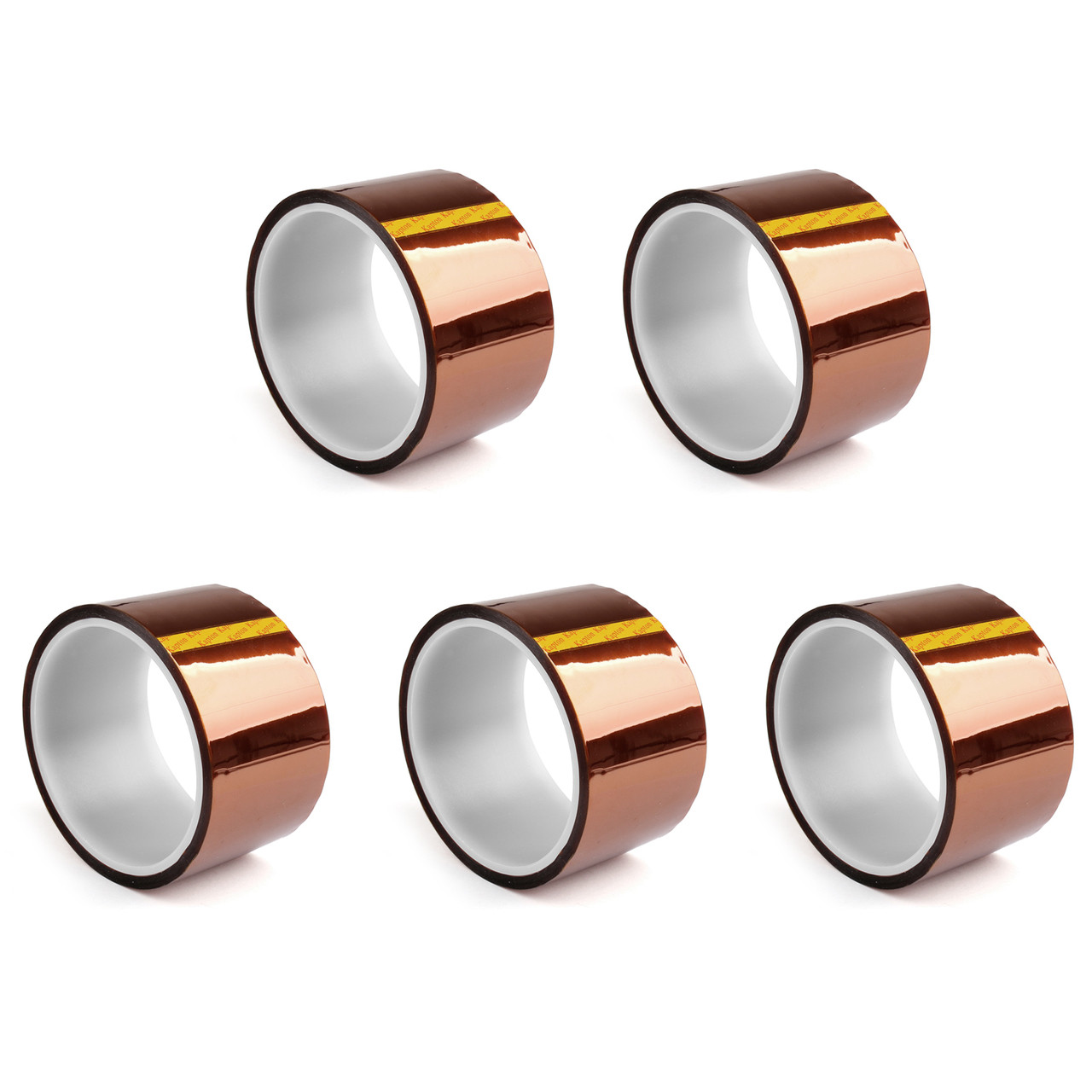 Mad Hornets 5PCs 50mm Heat Tape 33m 100ft Kapton High Temperature Resistant For 3D Printer