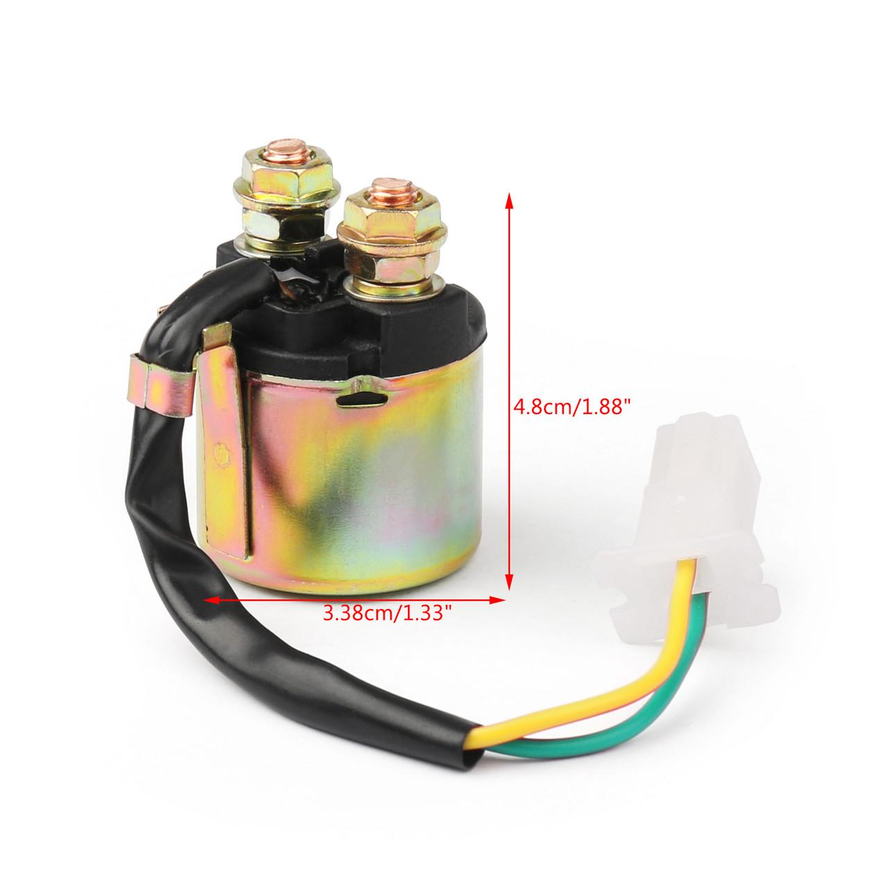 Starter Solenoid Relay Ignition For Honda TRX125 (85-86) ATC200 (82-84) TRX200 (84-87) TRX300 (88-00) TRX300FW FourTrax 300 (88-00)