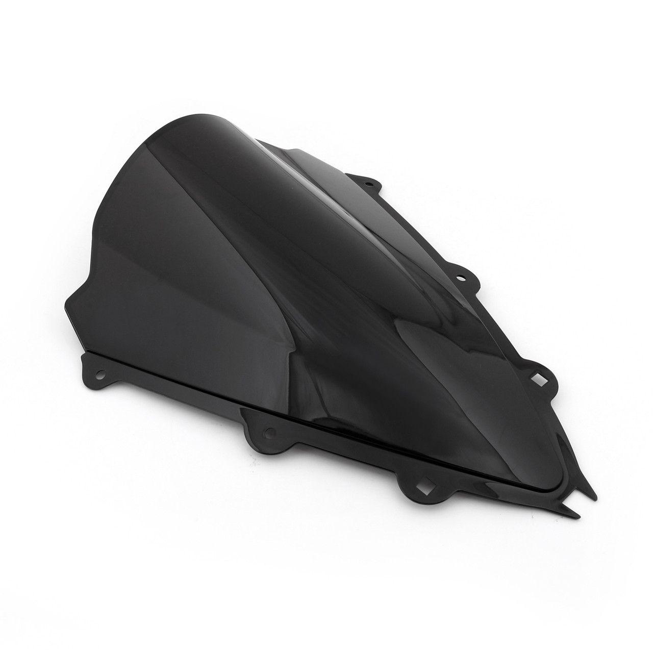 ABS Double Bubble Windscreen Windshield For Aprilia RSV4 (2009-2014) Black