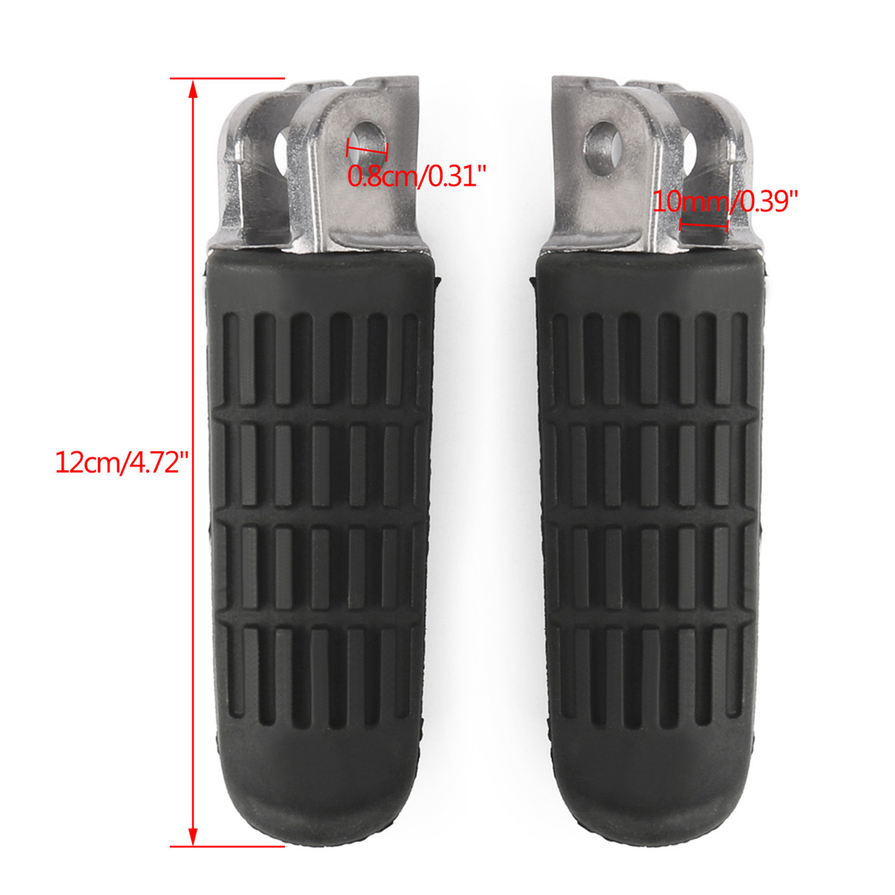 Front Footrest Foot Pegs For Honda VT250 Spada MC20 (88-90) VTR250 MC33 (97-09) CB-1 CB400F (89-91) CB400 CB400SF Superfour (92-98)