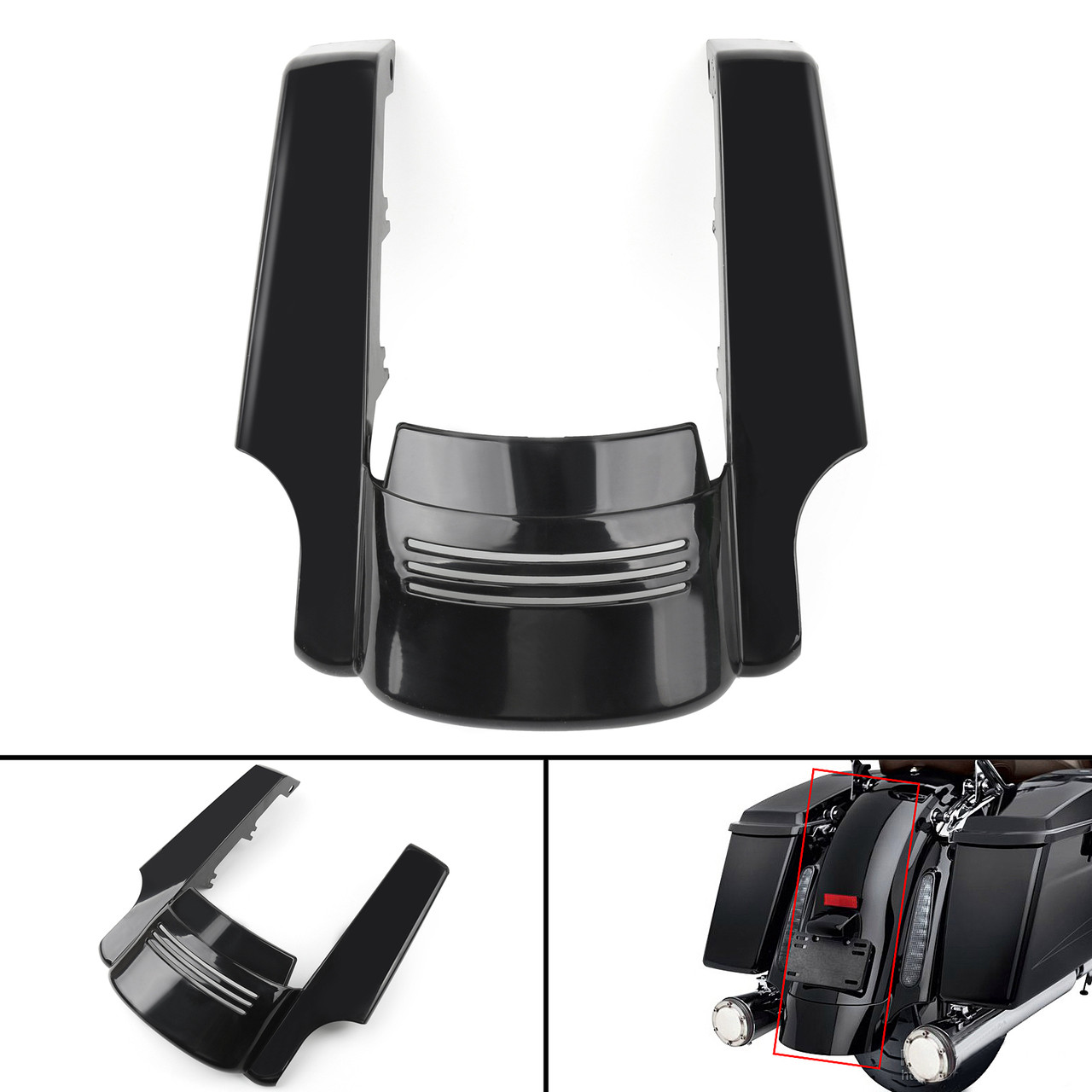 Stretched Rear Fender Extension For Harley Touring Street Road Glide (14-17)