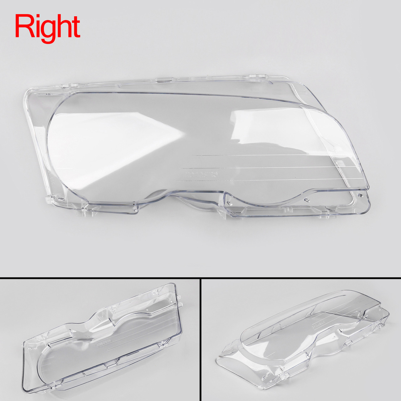Headlight Lens Replacement Covers Right For BMW E46 2Doors (1998-2001)