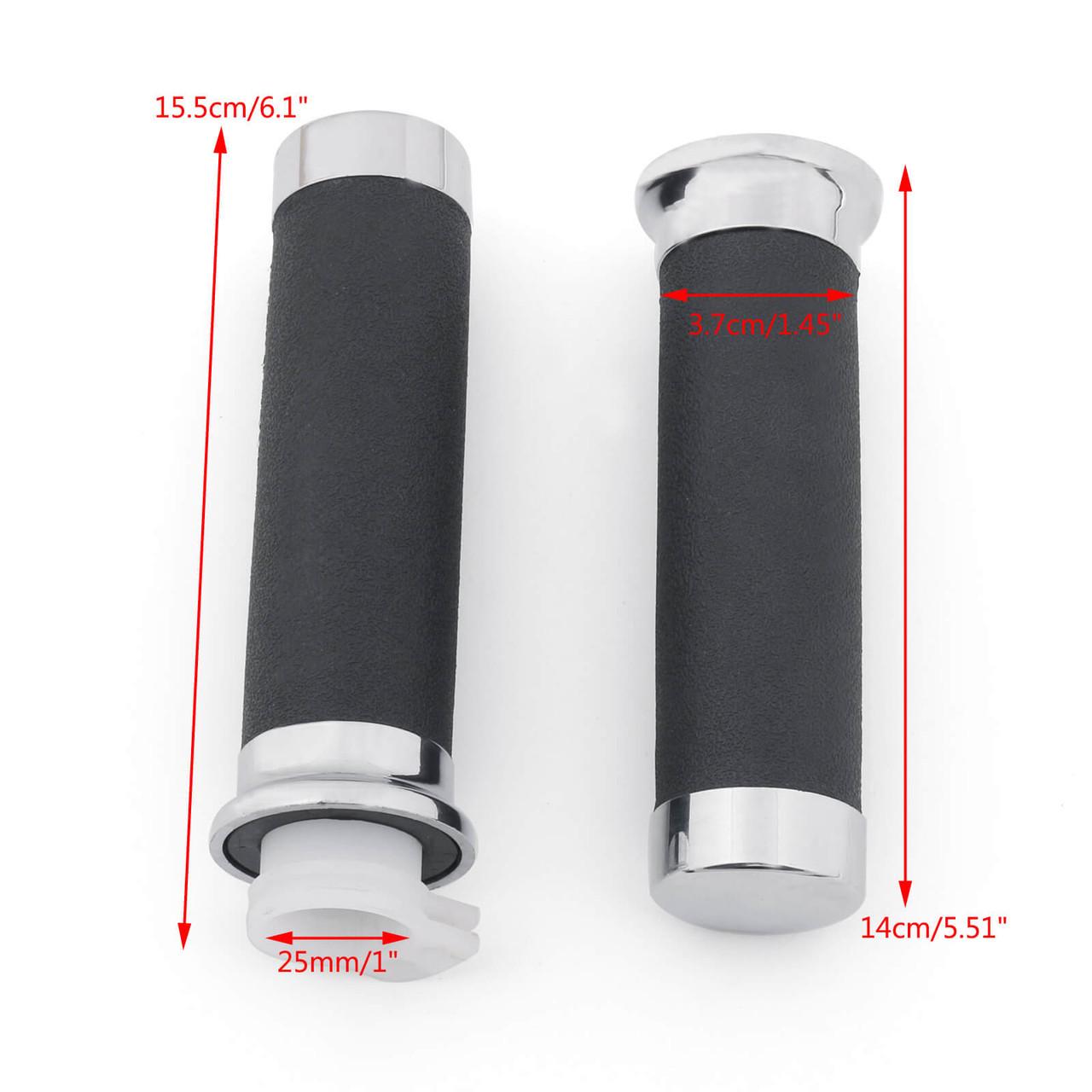 "1"" Hand Grip 25mm For Honda Shadow VT/XVS 400/600/750/1100/1300 Magna"