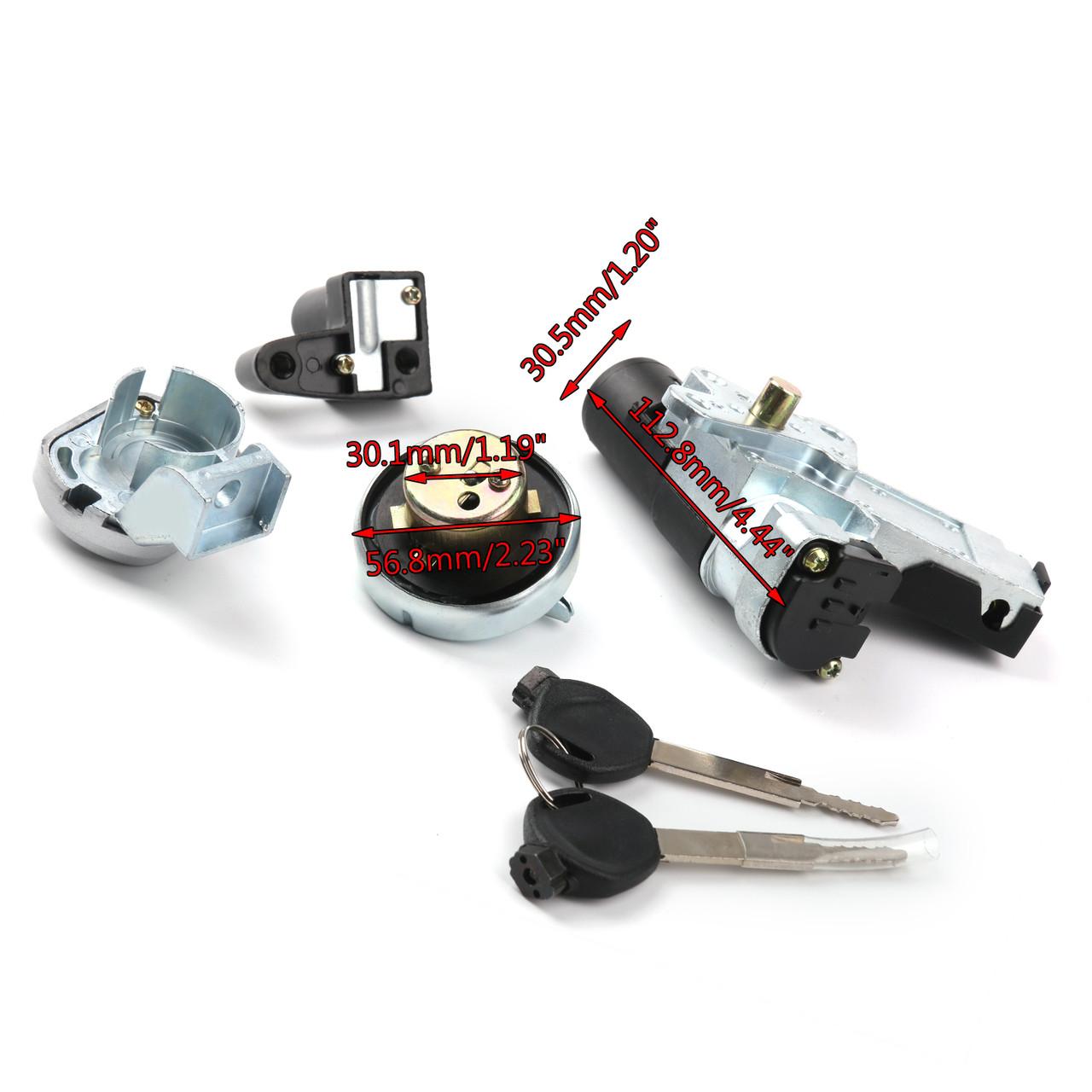 gnition Switch Fuel Gas Cap Seat Lock Key Kit For Honda NPS50 Ruckus 50 03-19