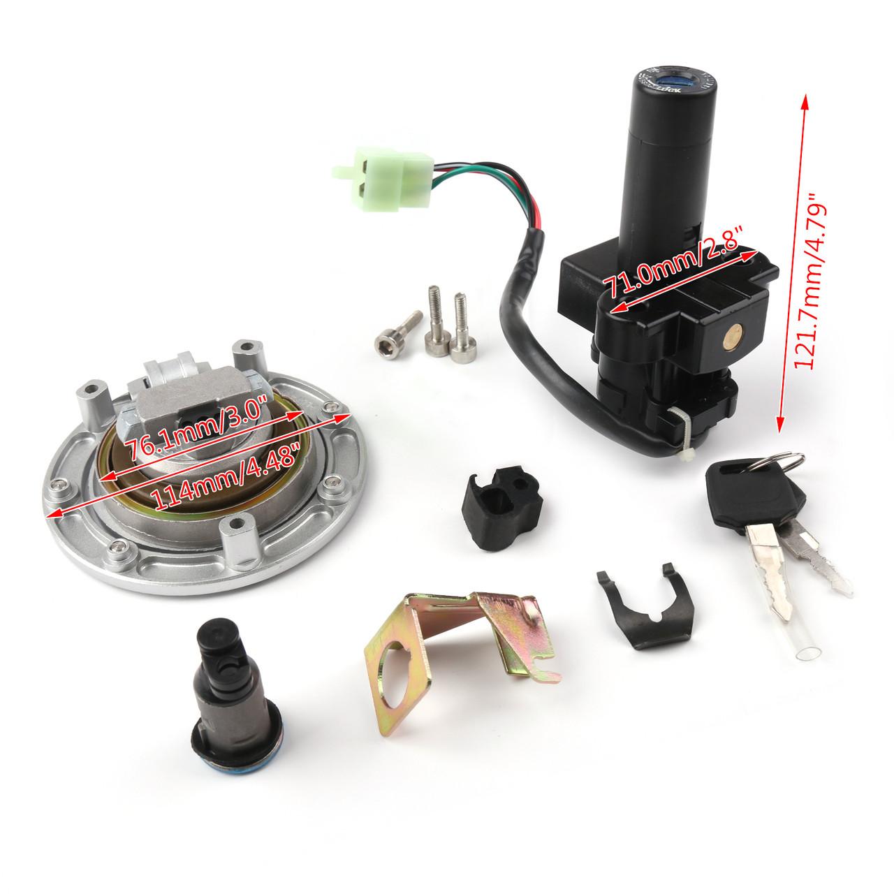Ignition Switch Lock Fuel Gas Cap Key Set For Honda CB750 F2 92-01 CB1300 98-02