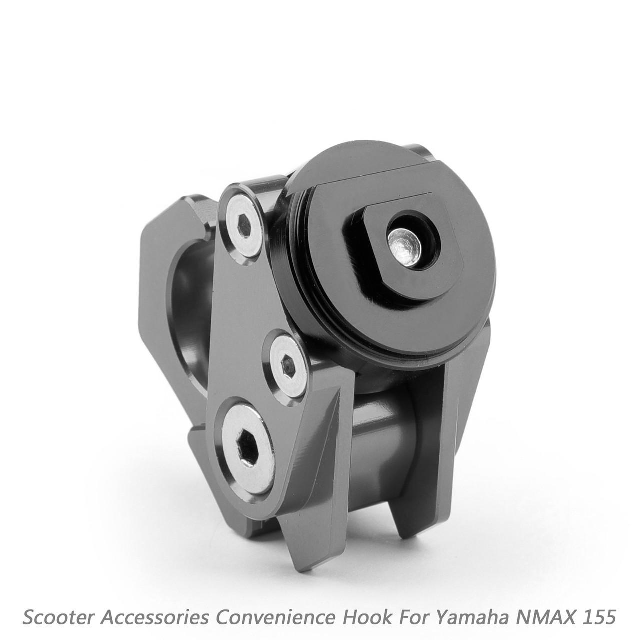 Carry Helmet Bottle Hanger Holder CNC Aluminum Alloy Hooks for Yamaha NMAX 155 2015-2018 Titanium