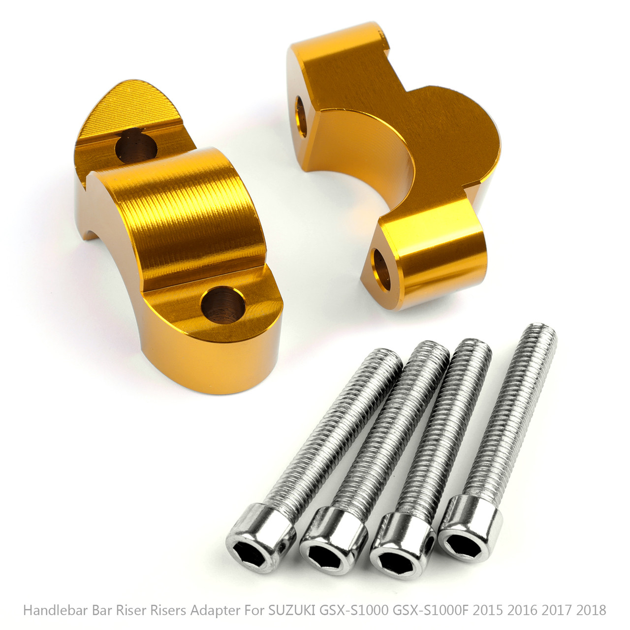 "Handlebar Risers 1"" Bar 20mm For Suzuki GSX-S1000 GSX-S1000F 2015-2018 Gold"