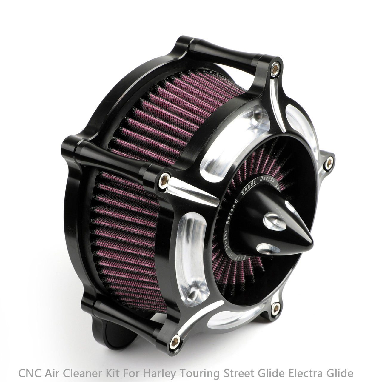 Air Cleaner intake filter For Harley Touring Street Glide,road king electra glide road glide Dyna FXDLS Softail Touring Trike Turbine