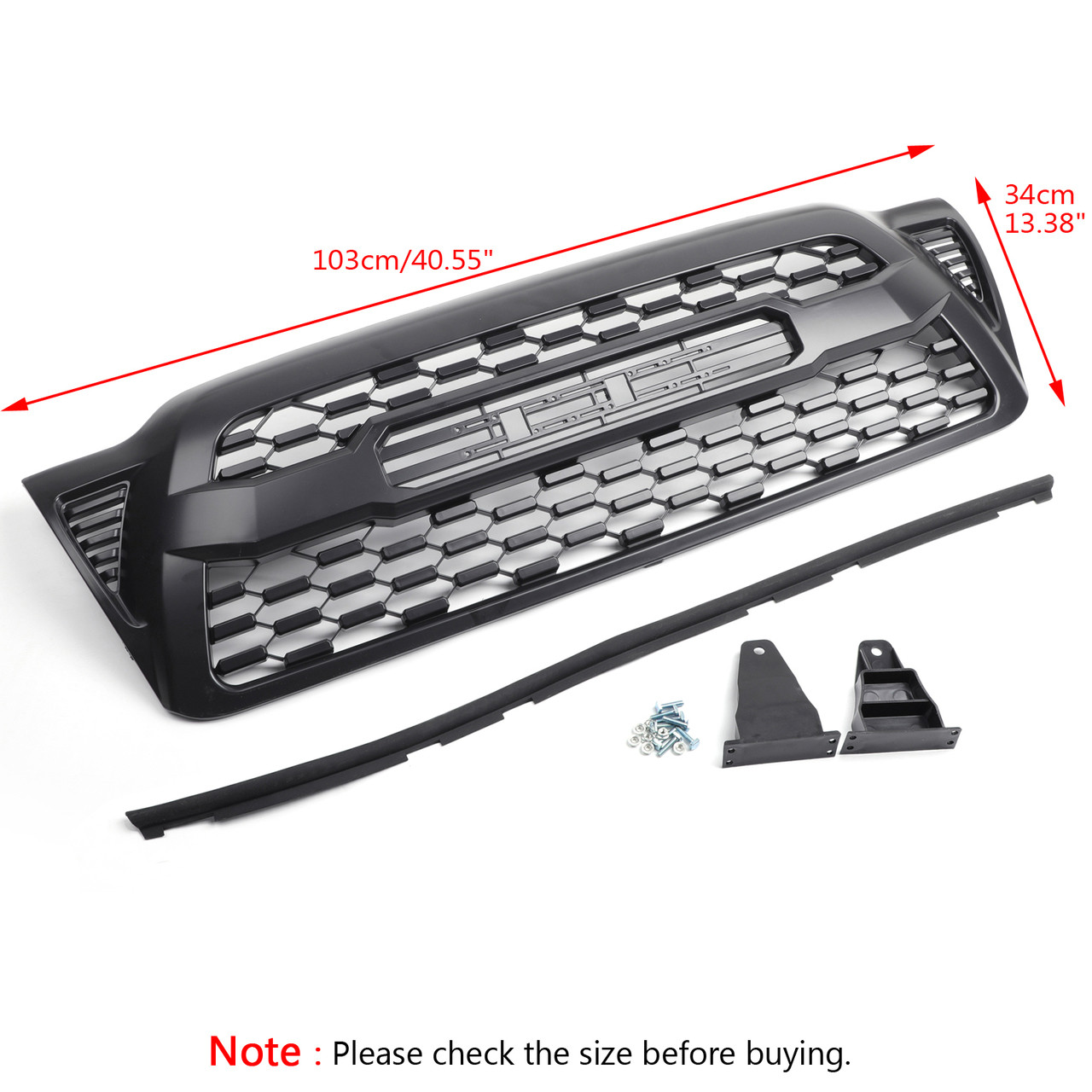 3RD Gen TRD Pro Style Grille with Toyota Letters for Tacoma (2005-06-07-08-09-10-2011)